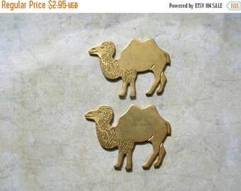 Christmas Sale Brass Bactrian Camels - Camel Findings - Egyptian Camels - Brass Findings - Flat Back Camels