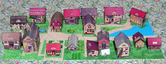 Paper minis, DIY kit from paper in miniature for the doll, Doll House, dollhouse miniatures, # 40065