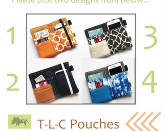 Pick TWO! iPhone Christmas Gift Black Friday Special!  Holiday gift iPhone 7 gift, woman gift iPhone 6, teen gift, cell phone TLC Pouches