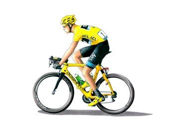 Chris Froome – Tour de France 2013 Greeting Card