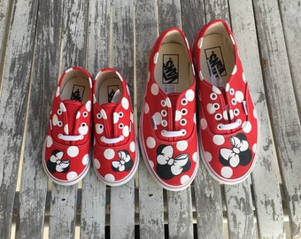 Red Mommy & Me Minnie Mouse Vans
