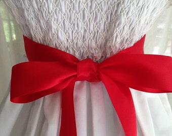 NEW-LOW PRICE-Flower Girl-Sash-Girl Sash-Red-Wedding Sash-Wedding Belt-Bridal Belt-Bridal Sash-cummerbunds-Satin sash-Satin belt-belt