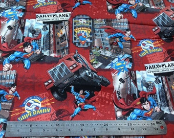 Superman 100% Cotton Fabric Fat Quarter