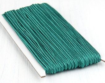 Teal Green, Soutache Braid Cord, Soutache Trim, Russia Soutache Cord, Braided Cord String, 3mm, 5 meter / 5.50 yards / 196'' // CRD-025