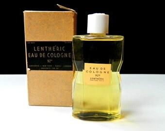 Vintage LENTHERIC Eau de Cologne  Period 1940s 100cc 3.4 oz Full Mint Original Crystal Bottle Original Box