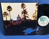 """RARE, Vintage, The Eagles - """"Hotel California"""" Vinyl LP Record Album, Original 1st Press, Life In The Fast Lane, New Kid In Town, Yacht Rock"""