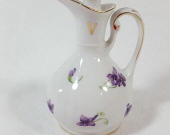 Small Violet Urn, porcelain, Norcrest-Japan