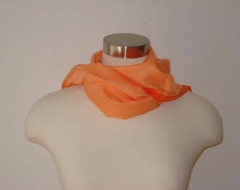 Vintage Orange Scarf - Long Bright Scarves - Womens Spring Summer Fall Accessories - Scarves and Allied Arts