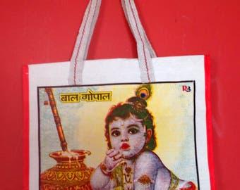 Canvas Shopper, Tote,Beach, Fairtrade, Indian Gods. Ethnic.