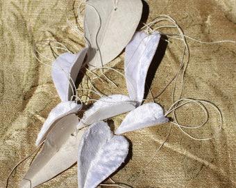 Velvet leaves, Silk rayon, cotton leaf tag velvet gift tag  gift enclosure, velvet accent,home  decor , velvet millinery leaves