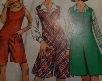 Vintage 1960's Simplicity 7174 PantJumper and Blouse Sewing Pattern, Size 16 Bust 36