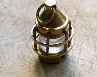 Antiqued Brass Lamp Lantern Pendant Old Style Miniature Lamp