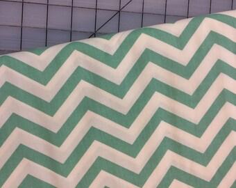 Half Yard cut of Birch Fabrics - Organic Cotton - Mod Basics - Skinny Chevron - MB2-04-Teal