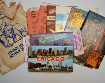 vintage Chicago ephemera pack from the 1960s