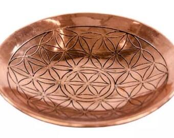 Flower of Life Copper Altar Bowl