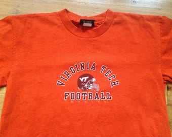 Vintage 90s Virginia Tech Hokies Football Tshirt