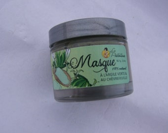 Green clay and honeysuckle extract skin mask (greasy skin and acne) 56.7 grams