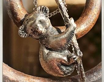 Koala silver pendant. Necklace silver koala. Hanging koala. Koala necklace. Koala silver. Silver Pendant. Silver necklace.