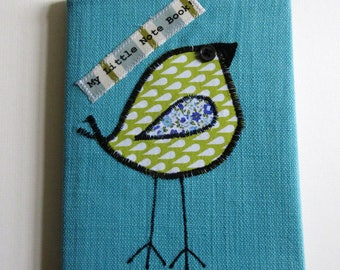 Cerulean Blue Fabric Covered Notebook -CB10