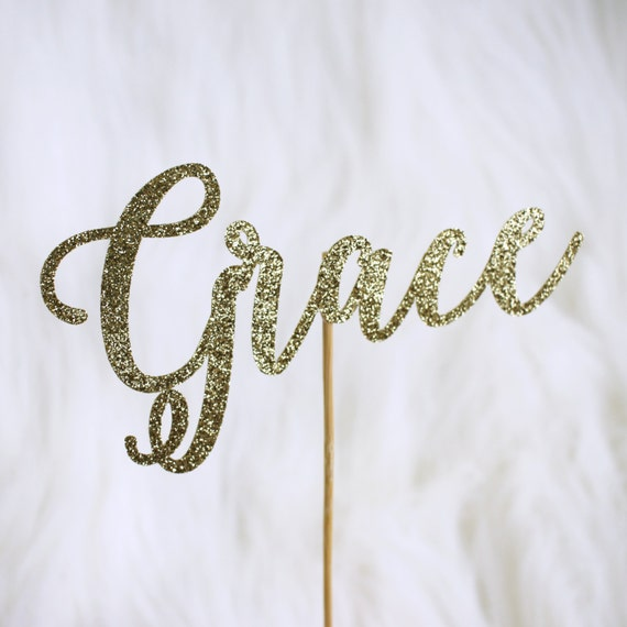 Custom Name Cake Topper - Glitter - Birthday Party. Bachelorette Party. Bridal Shower. First Birthday. Smash Cake Decor. Personalized Topper
