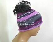 Bun beanie, pony tail beanie, Crochet messy bun hat, pony tail hat, crochet beanie, knitting bun beanie, knit beanie