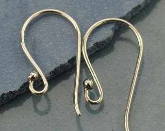 Large Simple Sterling Silver Earring Findings