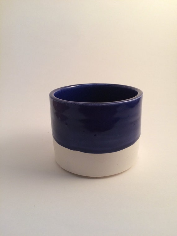 Medium planter in dark blue