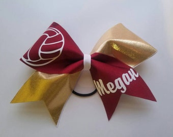 Volleyball Cheer Bow with name