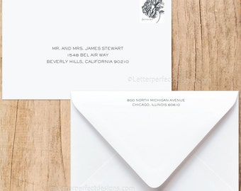Custom Wedding Digital Calligraphy Envelope Addressing Printing - Font C220