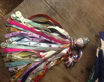 Vintage Embellished Bisque Doll