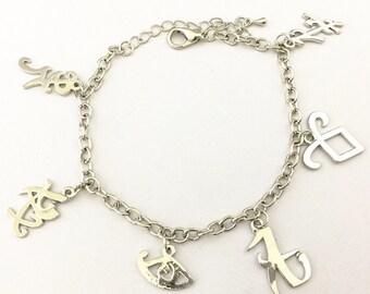 Shadow Hunters Mortal Instruments inspired charm bracelet