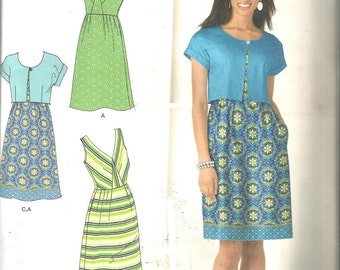 Simplicity 2177 size 6 - 14 cut to 14 womans dress and jacket