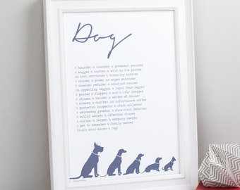 Dog Lover Gift - Dog Poem Print - Custom Poem Print - Personalised Gift - Print