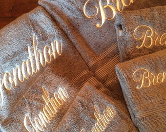 Monogrammed Towel Set Great for Wedding gifts, Shower gifts, Graduation, Birthday, Anniversary and Housewarming