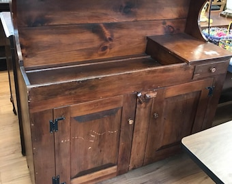 No Longer Available   Vintage Dry Sink Availble to Custom Paint Farmhouse Dry Sink Rustic Sideboard Farmhouse Sideboard Pick Up Only