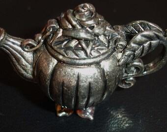 Pewter teapot trinket box, collectible pewter miniture teapot, Gianna Rose 1995, Vintage teapot trinket box, Collectible, Mother's Day