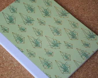 Metallic Gold Air Plant Notebook, Succulent Notebook, Full Sized, Altered Composition Notebook