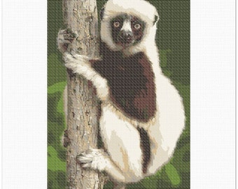 Needlepoint Kit or Canvas: Lemur