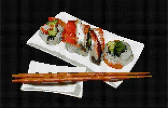 Needlepoint Kit or Canvas: Sushi