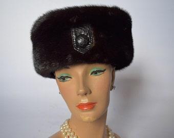 Vintage Black Fur Hat