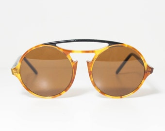 RARE Persol Ratti  650 Vintage Round Sunglasses. Light Yellow Tortoise Color.