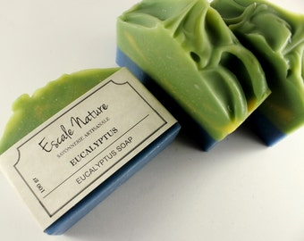 Eucalyptus soap, Olive soap with goat milk, Natural and handmade artisan soap