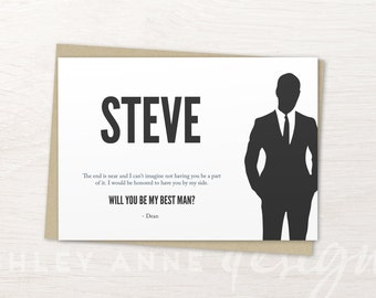 Best Man Card, Will You Be My Best Man Card, Best Man Proposal, Best Man Gift, Groomsmen Cards, Will You Be My Groomsman, Groomsmen Proposal