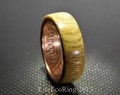 Wood wedding band ring Jameson whisky barrel Oak wood