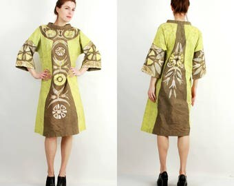 Vintage Kaftan / Kaftan Dress / Green Kaftan / Bohemian Kaftan / Vintage Caftan / Summer Dress / Oversized Dress / Beach Dress