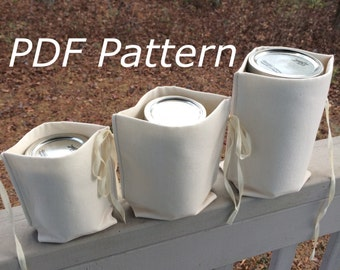 Zero Waste Mason Jar Nest PDF Pattern - divider for bulk shopping, bottles, jar lunches