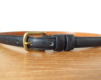 Vintage women's Coach leather belt, size small, style 2801, made in New York City