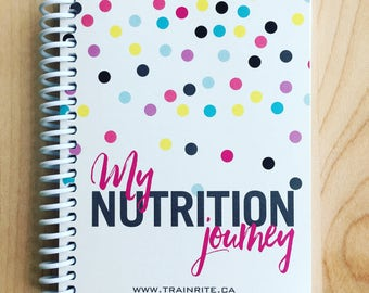 TrainRite Compact Nutrition Journal - Polka Dot