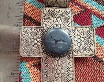 Southwestern cross pendant
