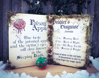 Evil Queen - Snow White Spellbook with or without Poison Apple